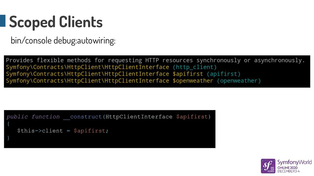 public function __construct(HttpClientInterface...