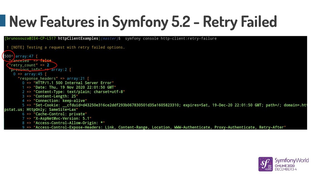 New Features in Symfony 5.2 - Retry Failed