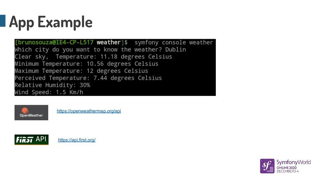 App Example https://api.first.org/ https://open...