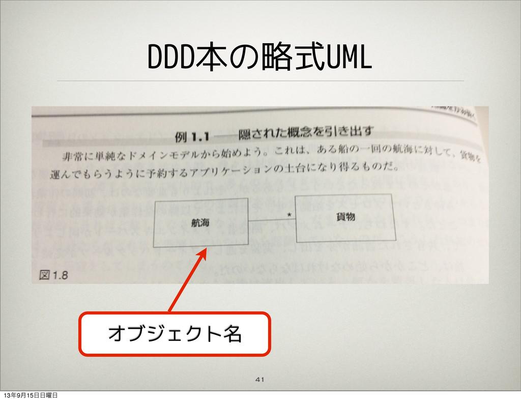 DDD本の略式UML 41 オブジェクト名 139݄15༵