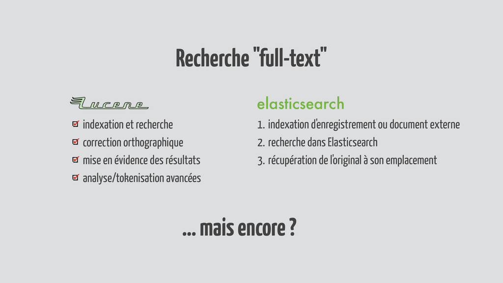 """Recherche """"full-text"""" indexation et recherche c..."""
