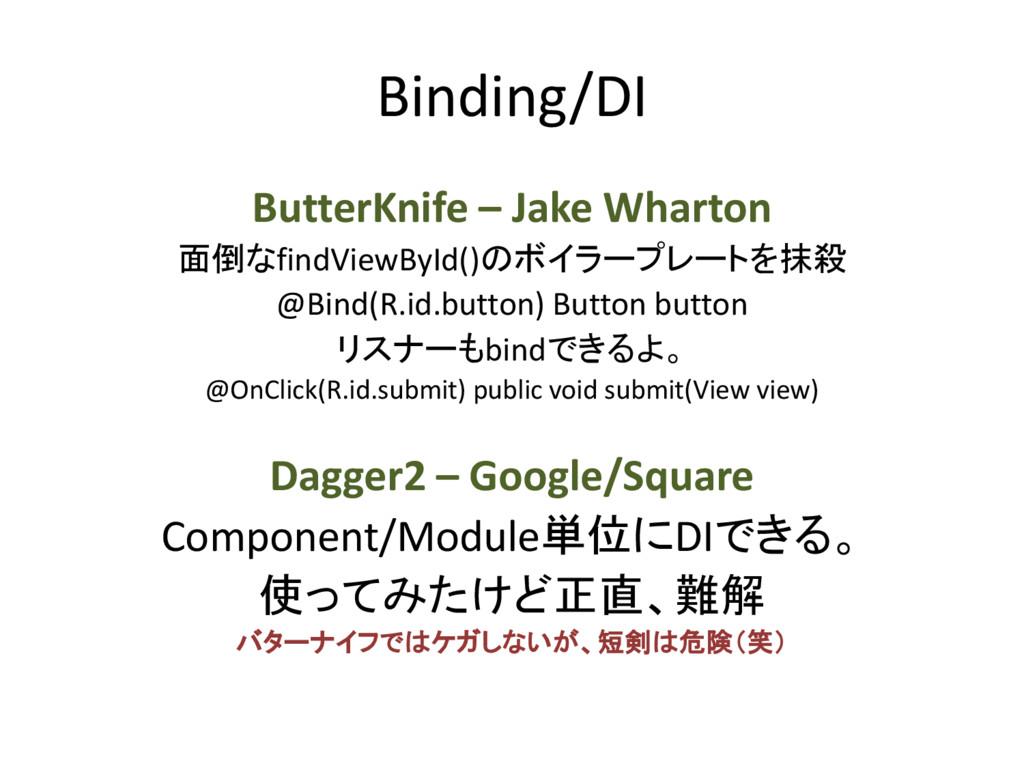 Binding/DI ButterKnife – Jake Wharton 面倒なfindVi...