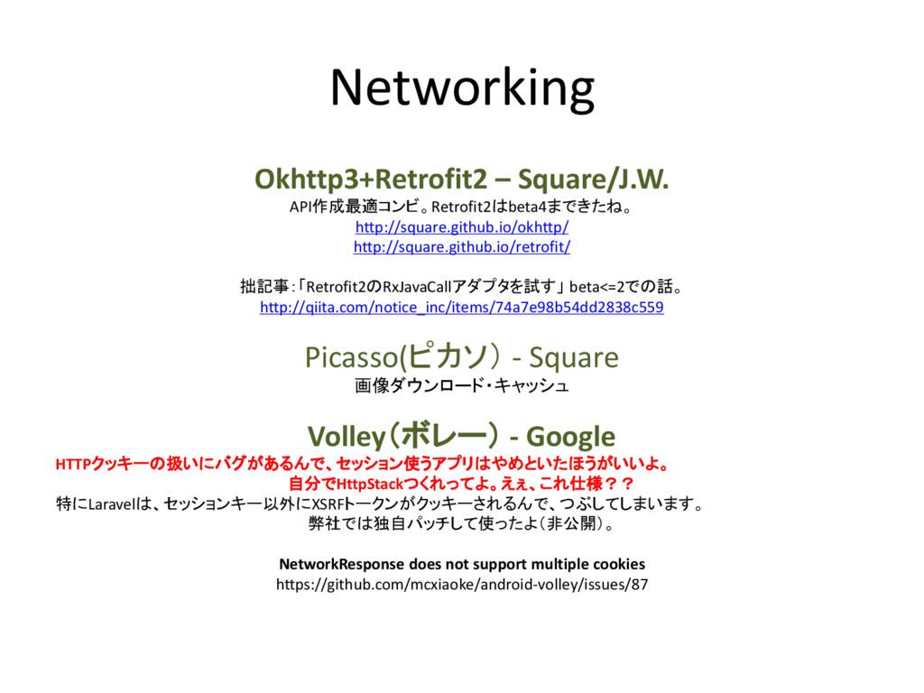 Networking Okhttp3+Retrofit2 – Square/J.W. API作...