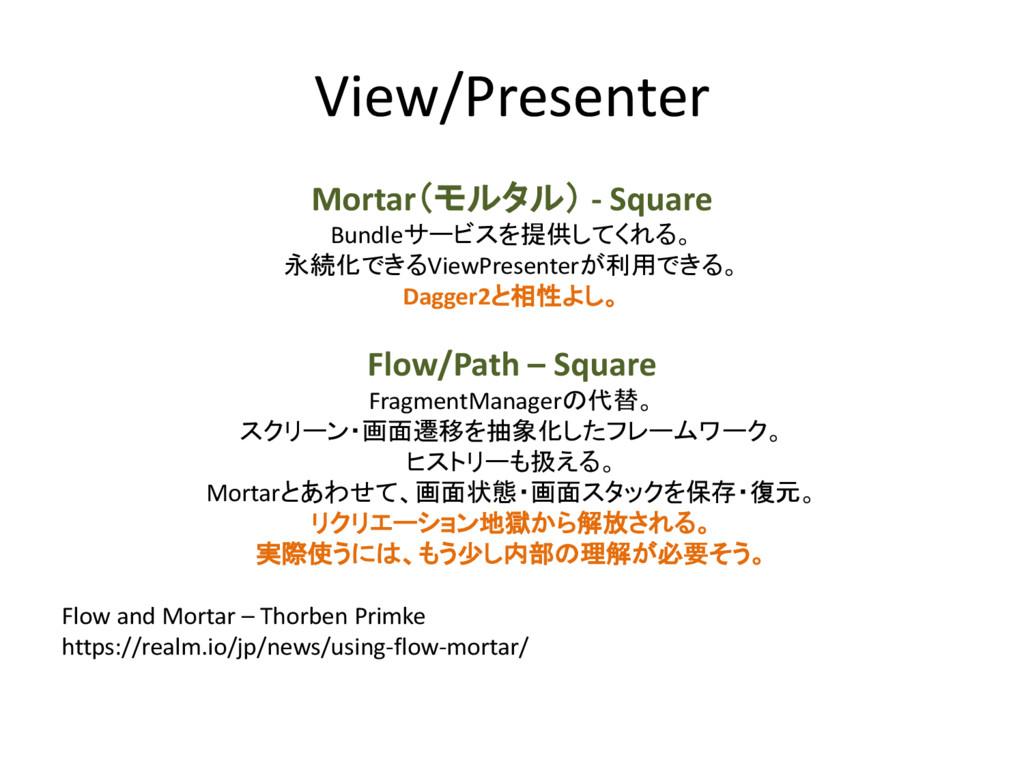 View/Presenter Mortar(モルタル) - Square Bundleサービス...