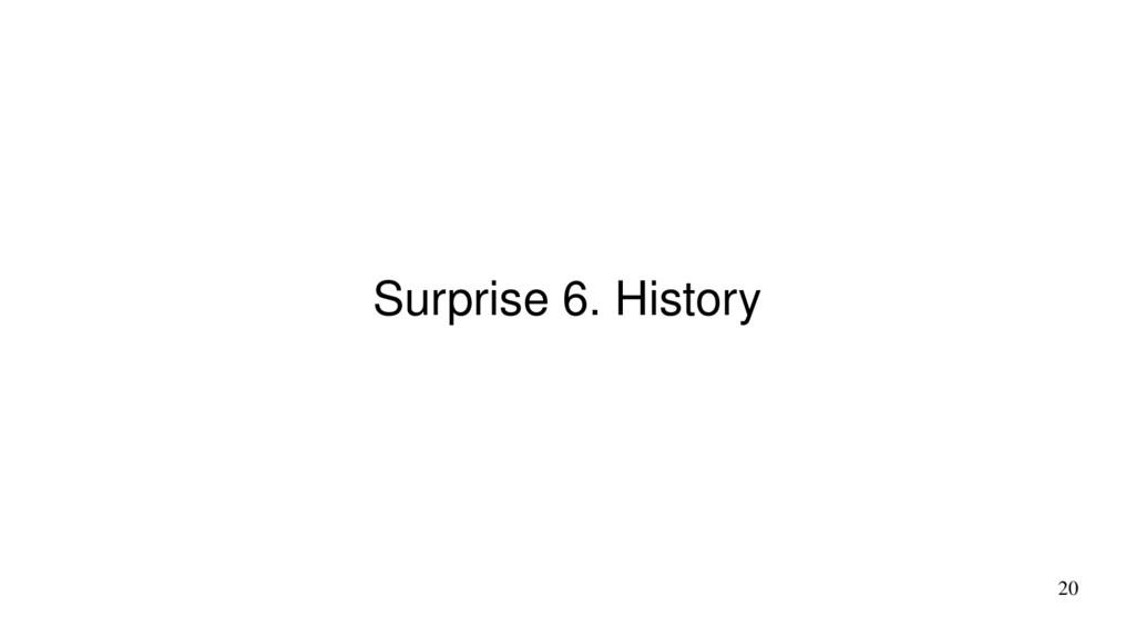 20 Surprise 6. History