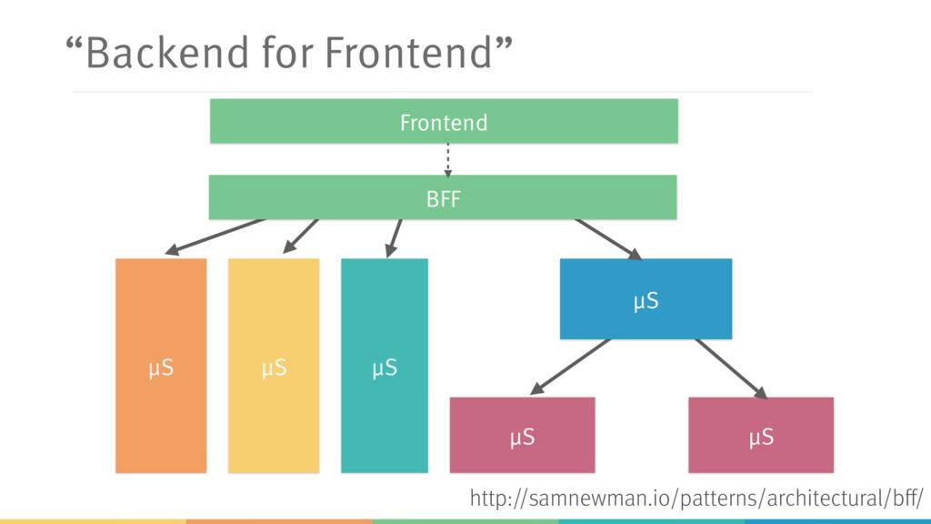 """""""Backend for Frontend"""" μS μS μS μS μS μS BFF Fr..."""