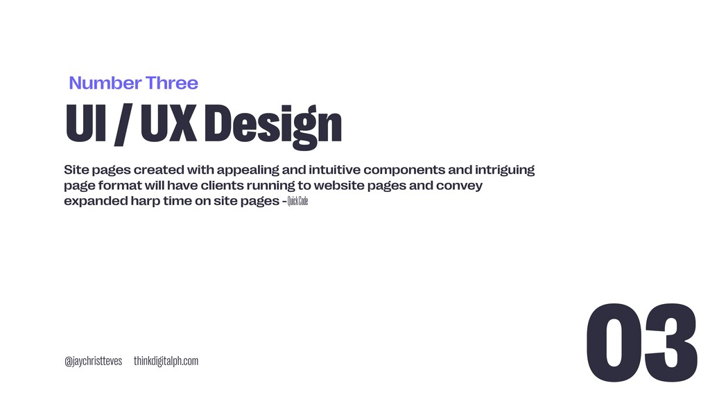 Number Three UI / UX Design @jaychristteves thi...