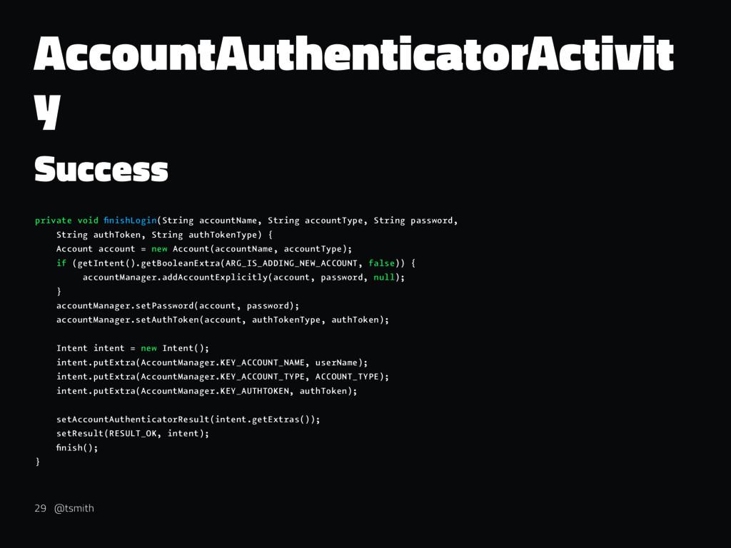 AccountAuthenticatorActivit y Success private v...