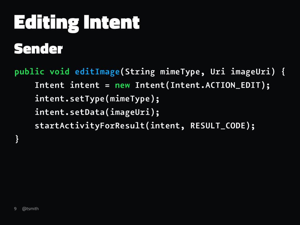 Editing Intent Sender public void editImage(Str...