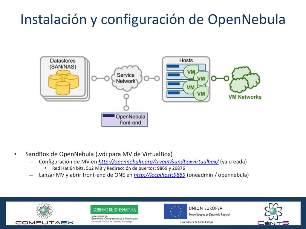 Instalación y configuración de OpenNebula • San...
