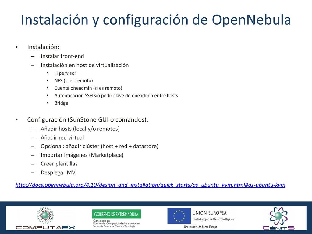 Instalación y configuración de OpenNebula • Ins...