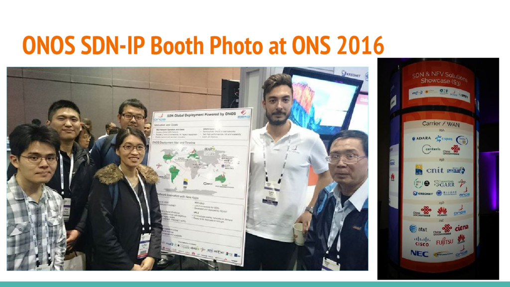 ONOS SDN-IP Booth Photo at ONS 2016