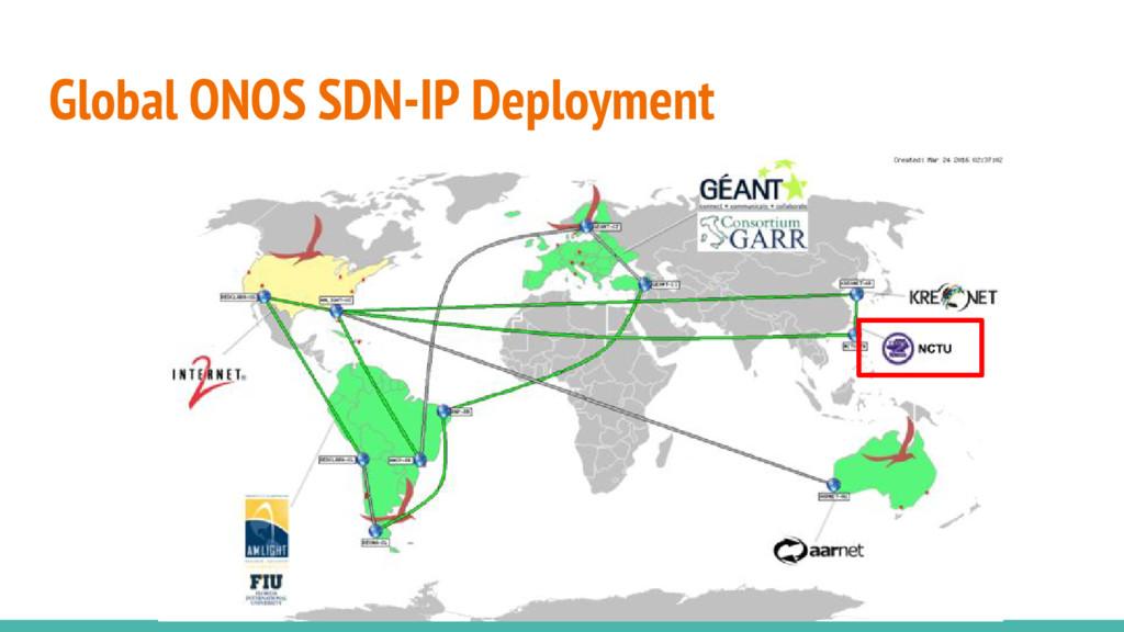 Global ONOS SDN-IP Deployment