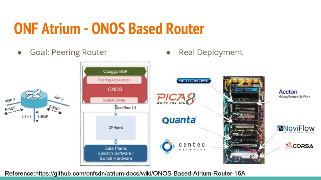ONF Atrium - ONOS Based Router ● Goal: Peering ...