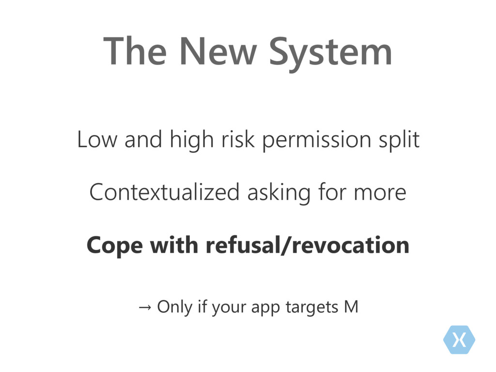 The New System Low and high risk permission spl...