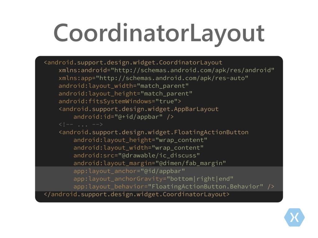CoordinatorLayout <android.support.design.widge...