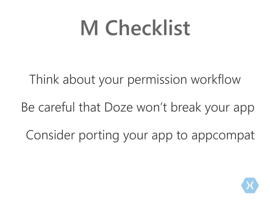 M Checklist Think about your permission workflo...