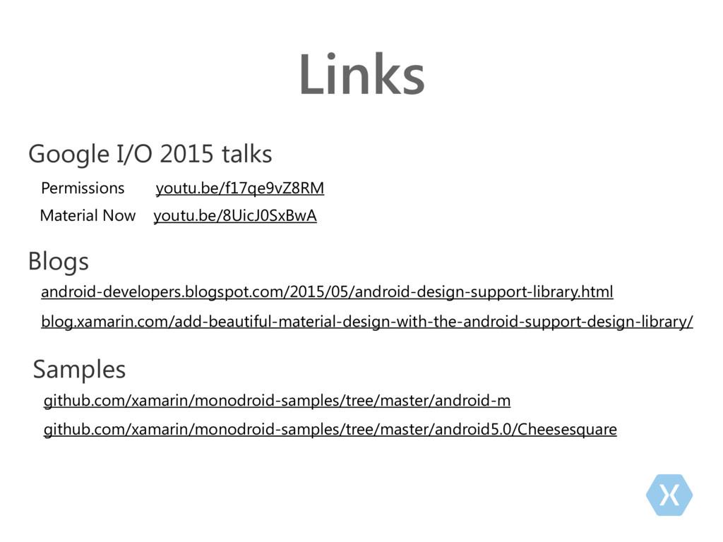 Links Google I/O 2015 talks Permissions youtu.b...