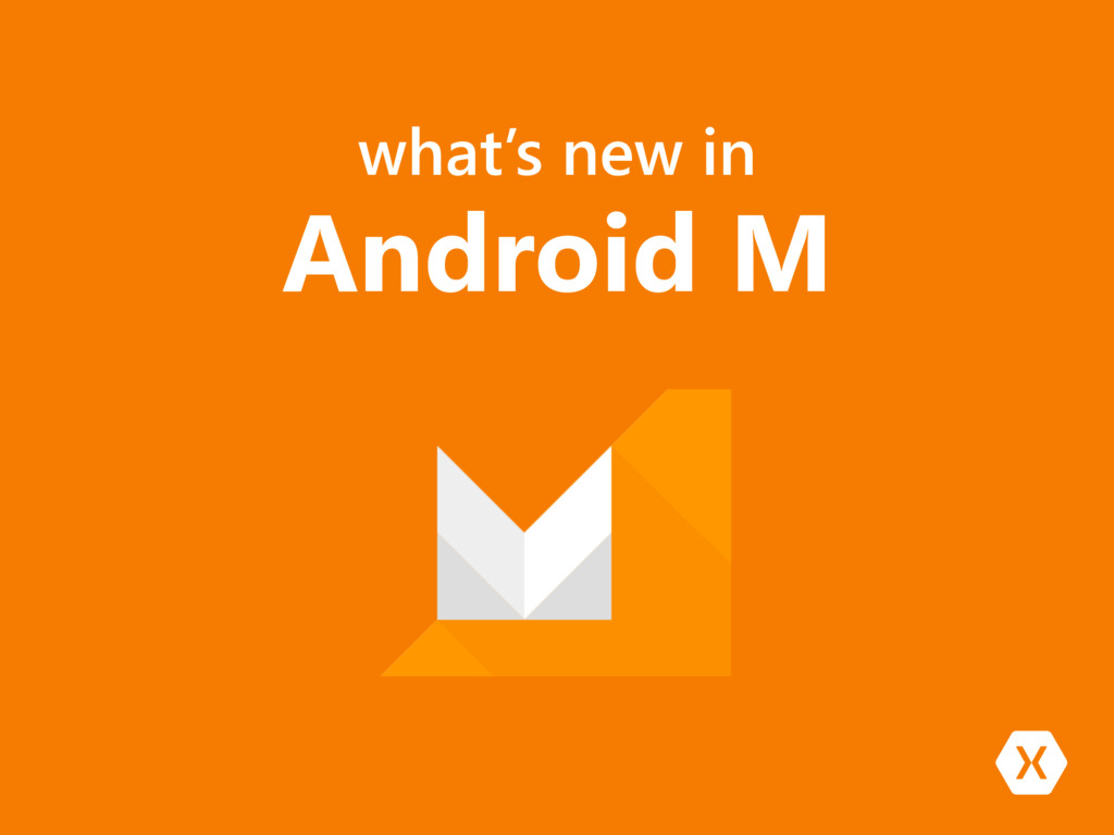 what's new in Android M
