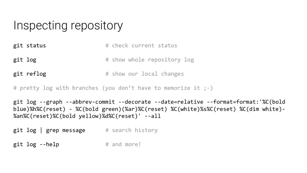 Inspecting repository git status # check curren...