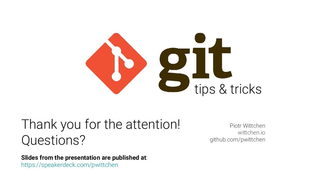 tips & tricks Piotr Wittchen wittchen.io github...