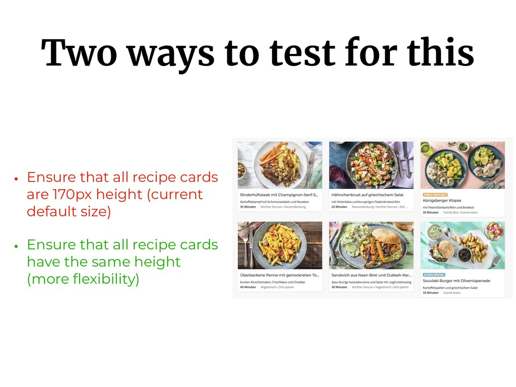 Two ways to test for this • Ensure that all rec...