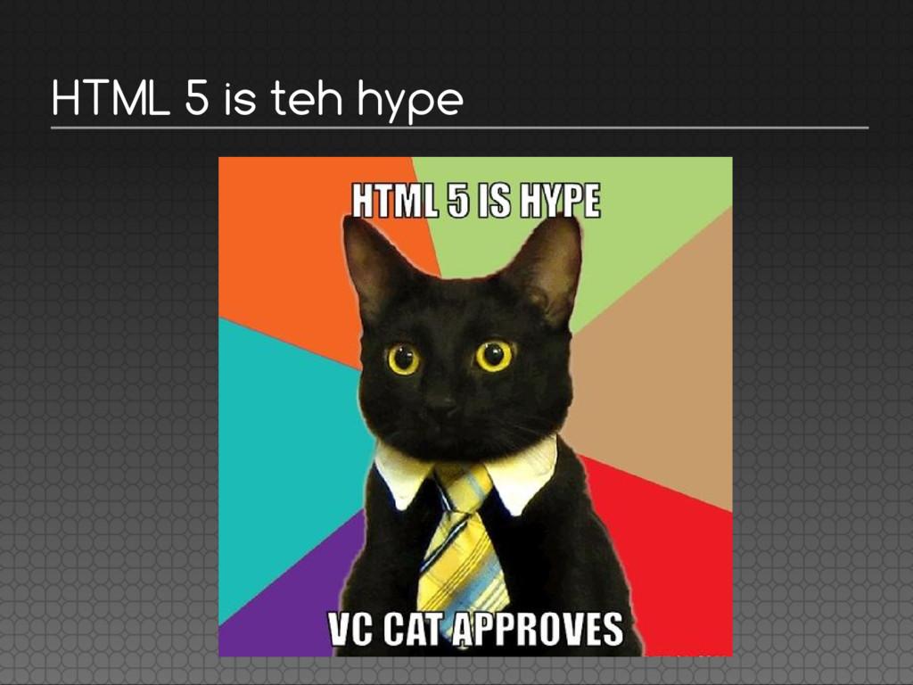 HTML 5 is teh hype