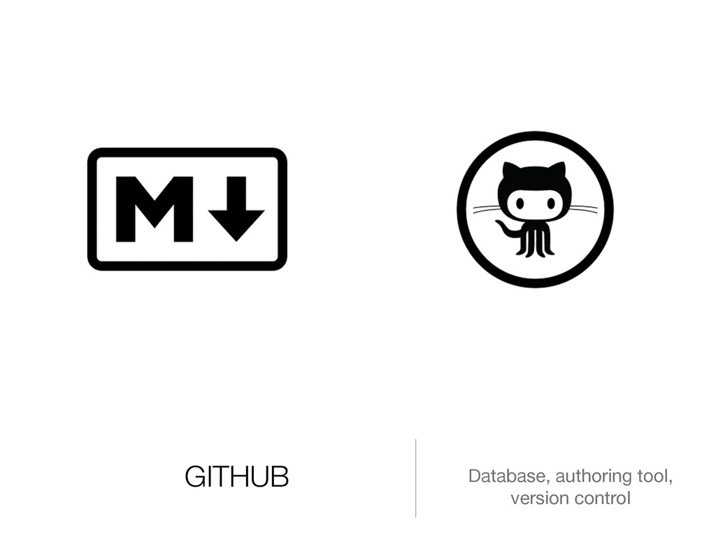 GITHUB Database, authoring tool, version control