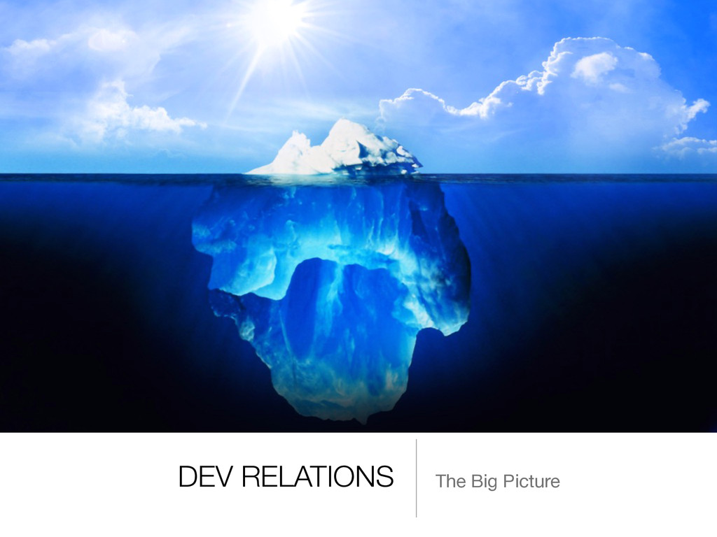 DEV RELATIONS The Big Picture