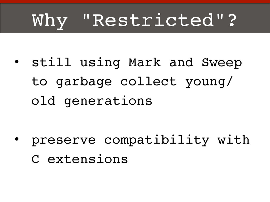 "Why ""Restricted""?! •  still using Mark and Swee..."