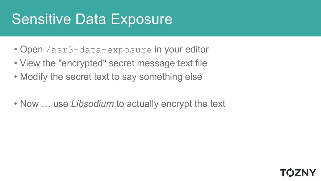 Sensitive Data Exposure • Open /asr3-data-expos...