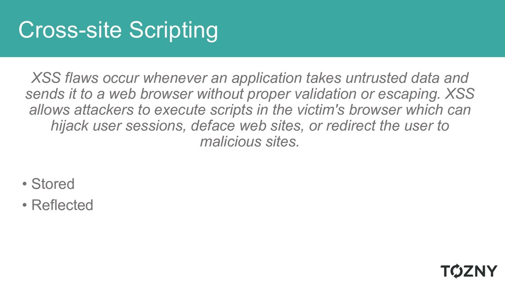 Cross-site Scripting XSS flaws occur whenever a...