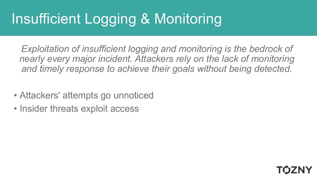 Insufficient Logging & Monitoring Exploitation ...