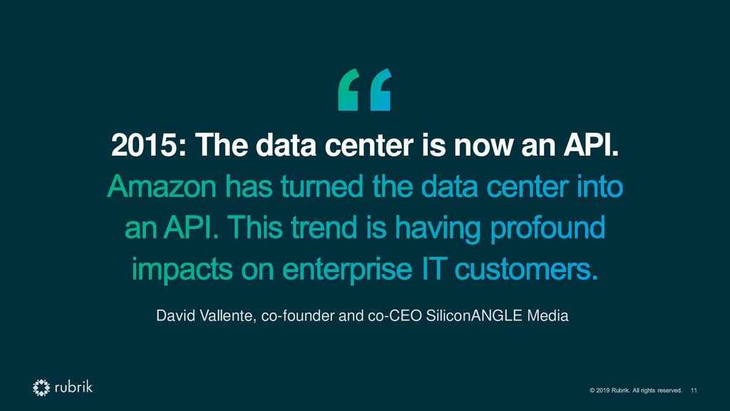 2015: The data center is now an API. David Vall...