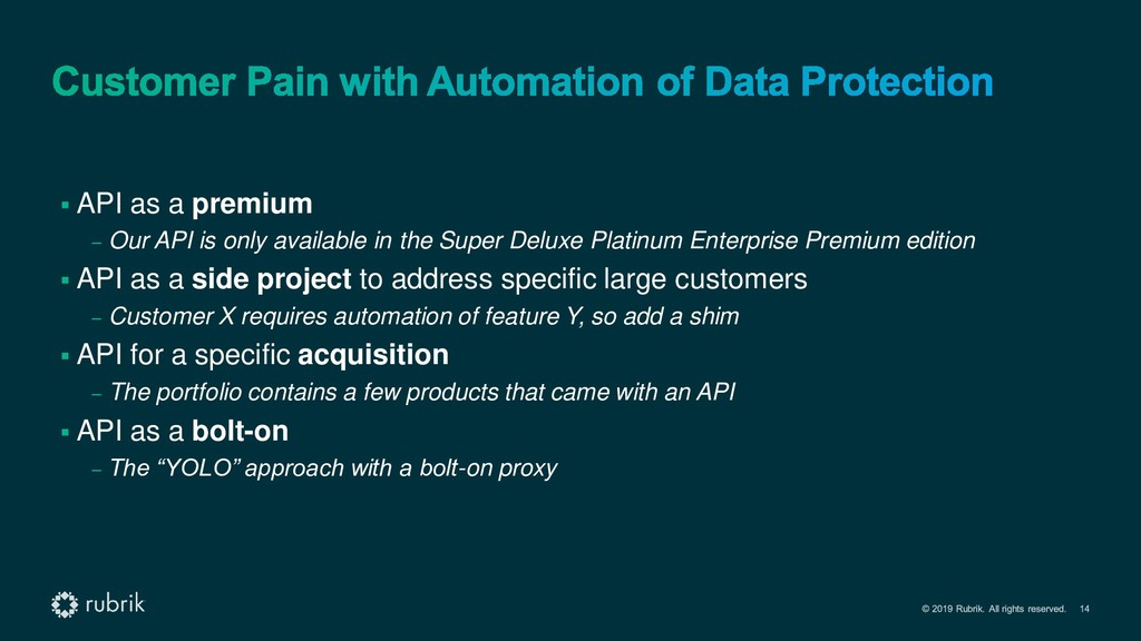 ▪ API as a premium – Our API is only available ...
