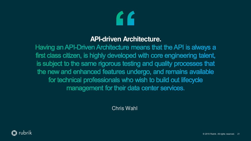 API-driven Architecture. Chris Wahl