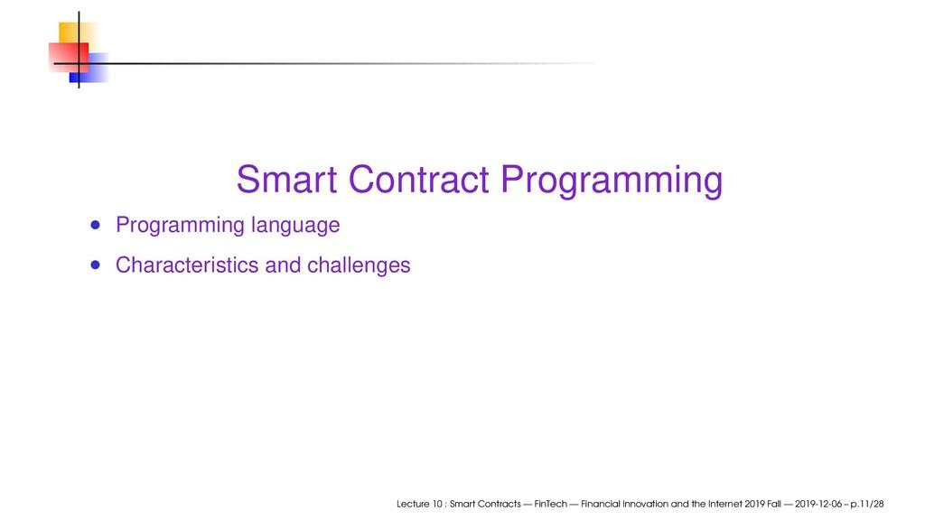 Smart Contract Programming Programming language...
