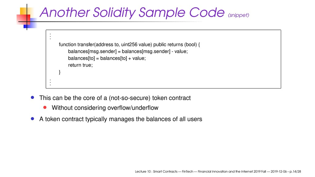 Another Solidity Sample Code (snippet) . . . fu...