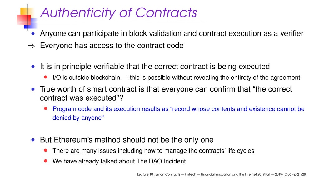 Authenticity of Contracts Anyone can participat...
