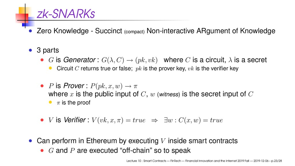 zk-SNARKs Zero Knowledge - Succinct (compact) N...