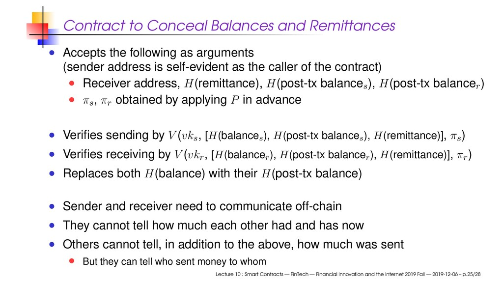 Contract to Conceal Balances and Remittances Ac...