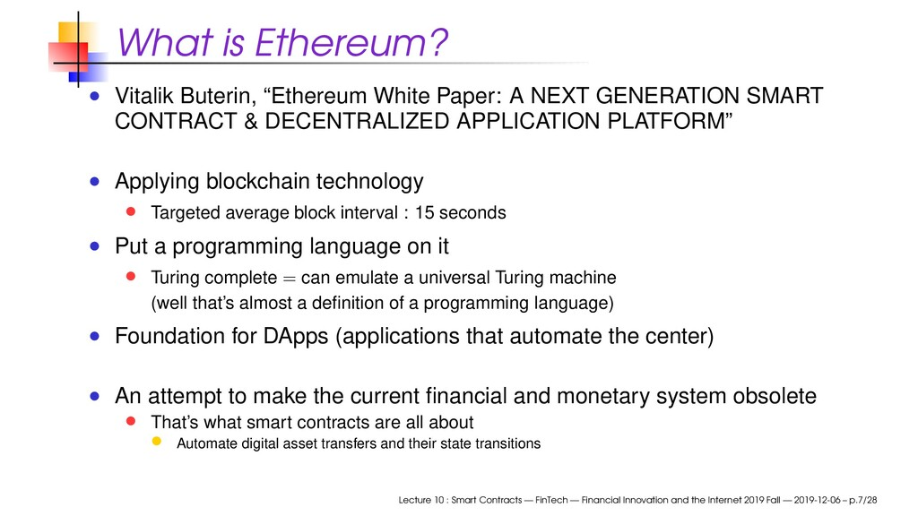 """What is Ethereum? Vitalik Buterin, """"Ethereum Wh..."""