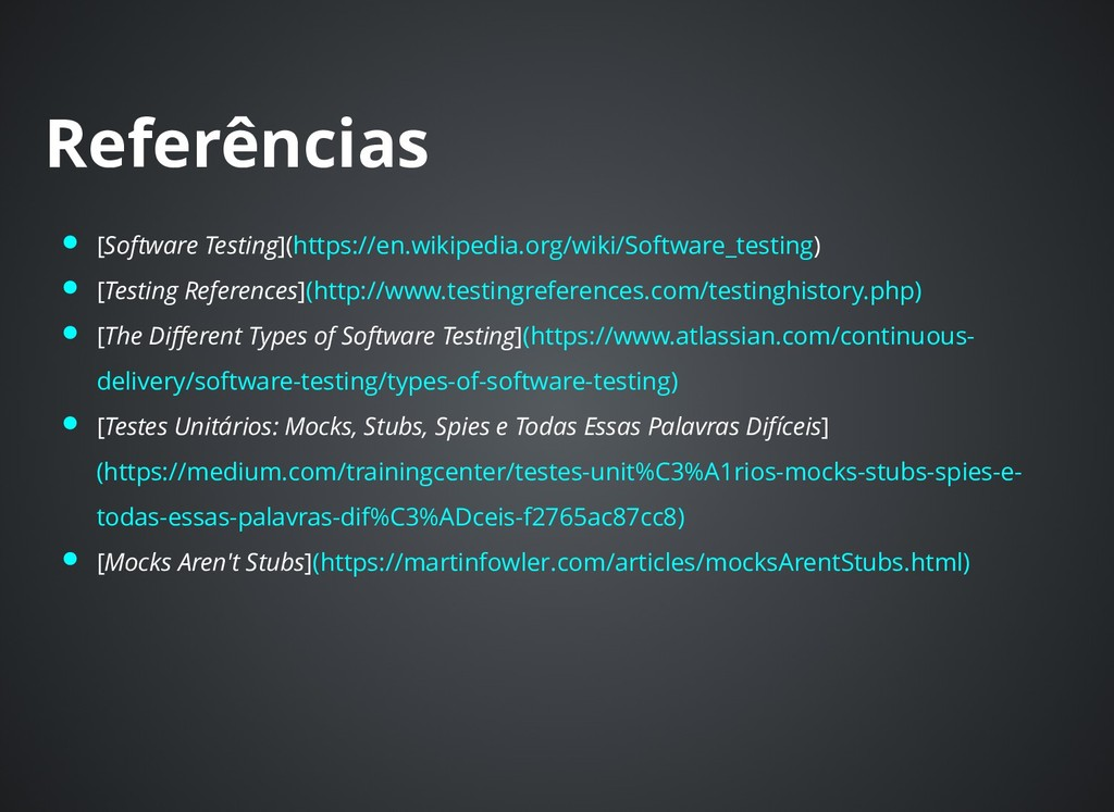 Referências Referências [Software Testing](http...
