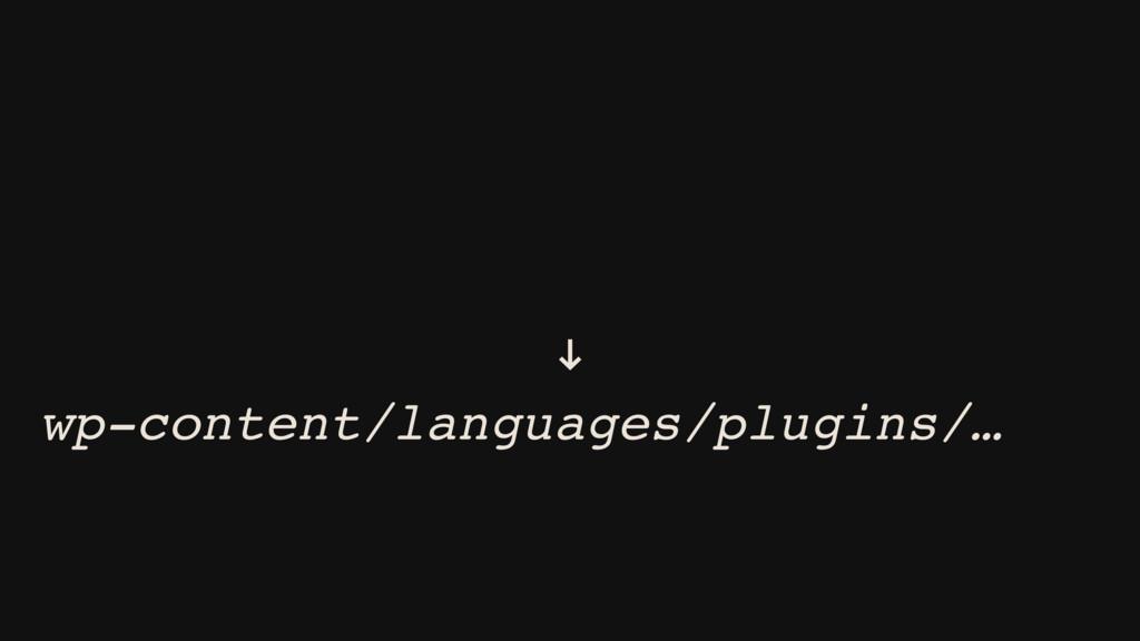 wp-content/plugins/myplugin/ languages/… ! wp-c...