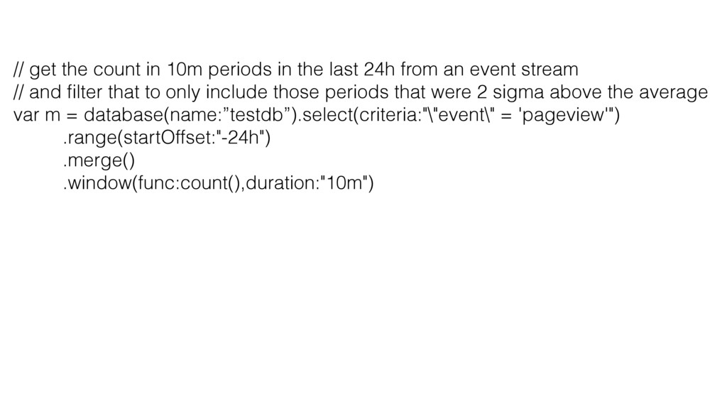 // get the count in 10m periods in the last 24h...
