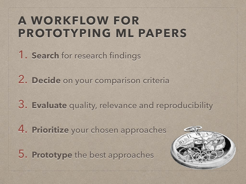 A WORKFLOW FOR PROTOTYPING ML PAPERS 1. Search ...