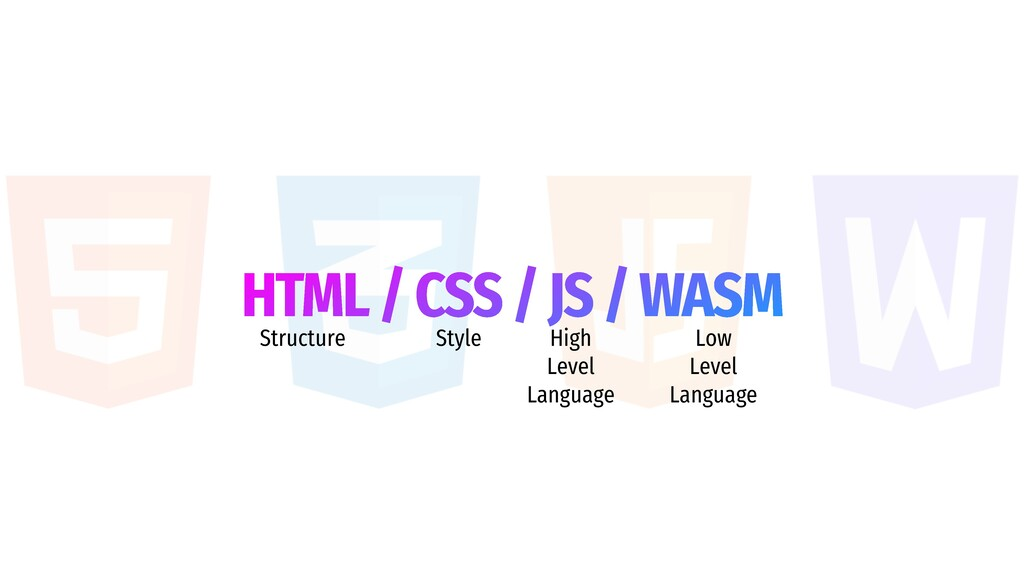 HTML / CSS / JS / WASM Structure Style High Lev...