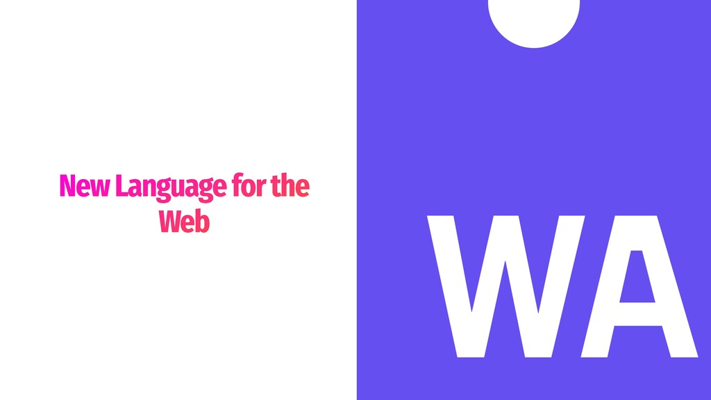 New Language for the Web