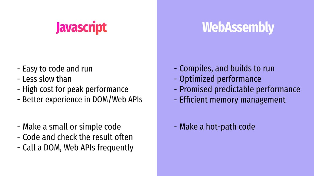 Javascript WebAssembly - Compiles, and builds t...