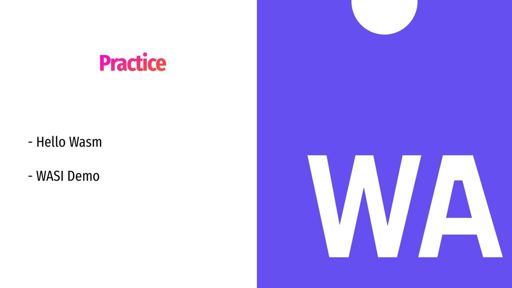 Practice - Hello Wasm - WASI Demo